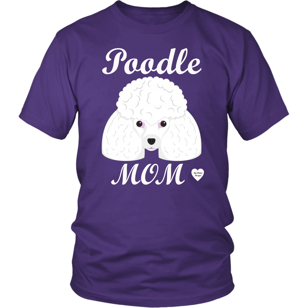 Poodle Mom purple t-shirt