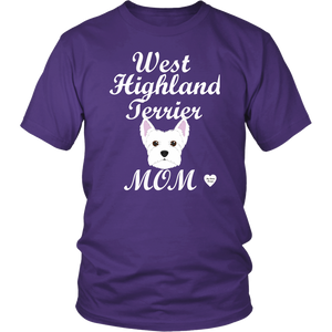 west highland terrier t-shirt purple