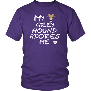 Greyhound Adores Me T-Shirt Purple