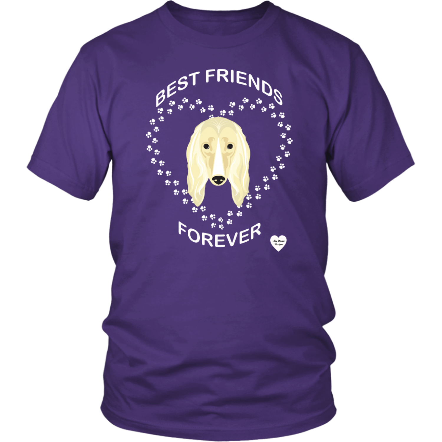 Afghan Hound Best Friends Forever T-Shirt Purple