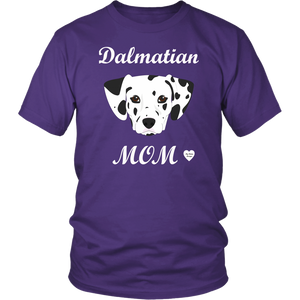 dalmatian mom t-shirt purple