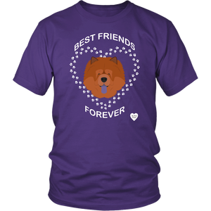 Chow Chow Best Friends Forever T-Shirt Purple