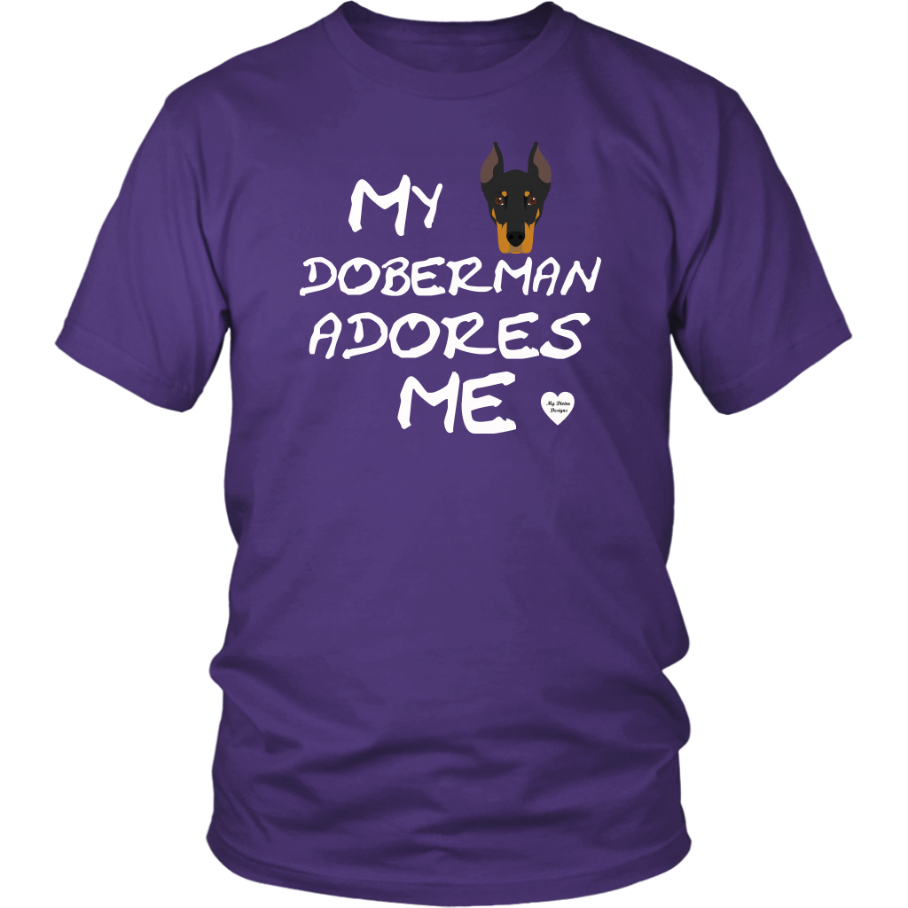 My Doberman Adores Me T-Shirt Purple
