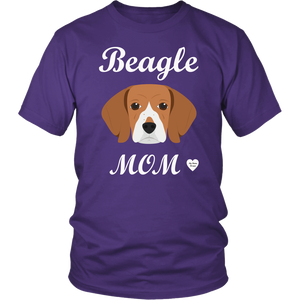 beagle mom t-shirt purple