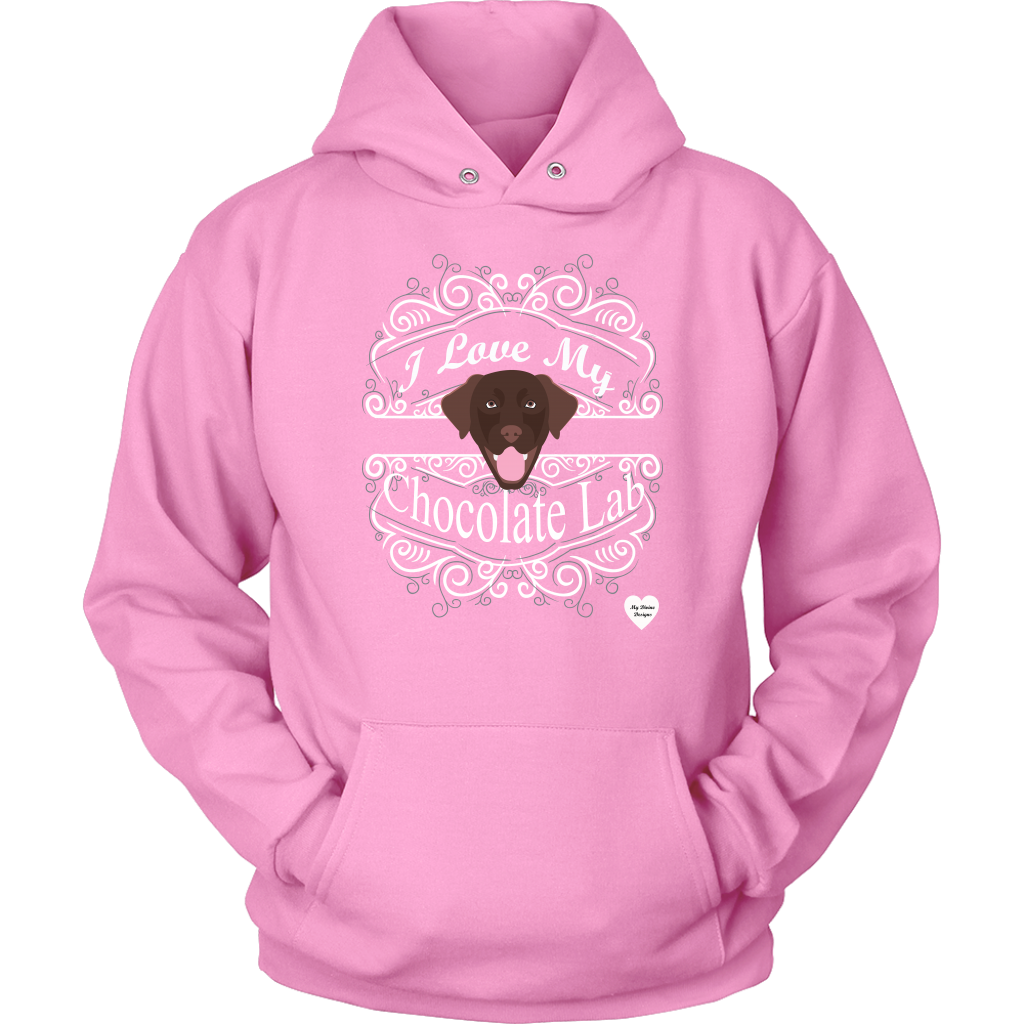 I Love My Chocolate Lab Hoodie