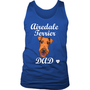 Airedale Terrier Dad Tank Top Royal Blue
