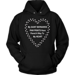 Saint Bernard Paw Prints To My Heart Hoodie