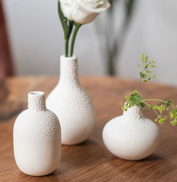 Mini Pearl Beaded Vases - Set/3