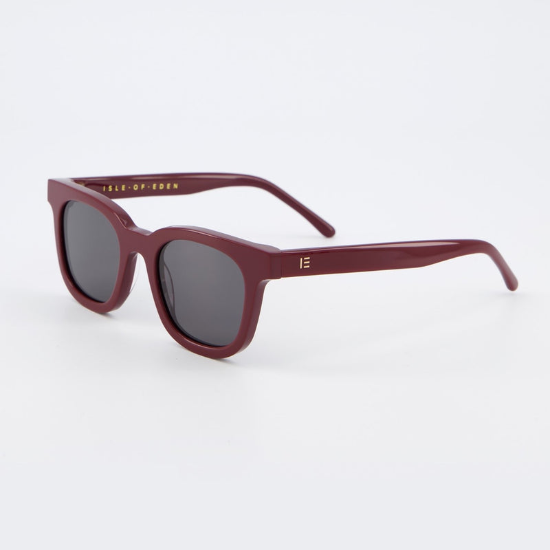 Isle of Eden Sunglasses - Eugene Dark Red