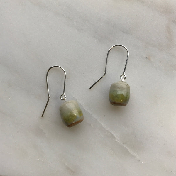 Woodfolk Riverbank Cylinder Drop Earrings