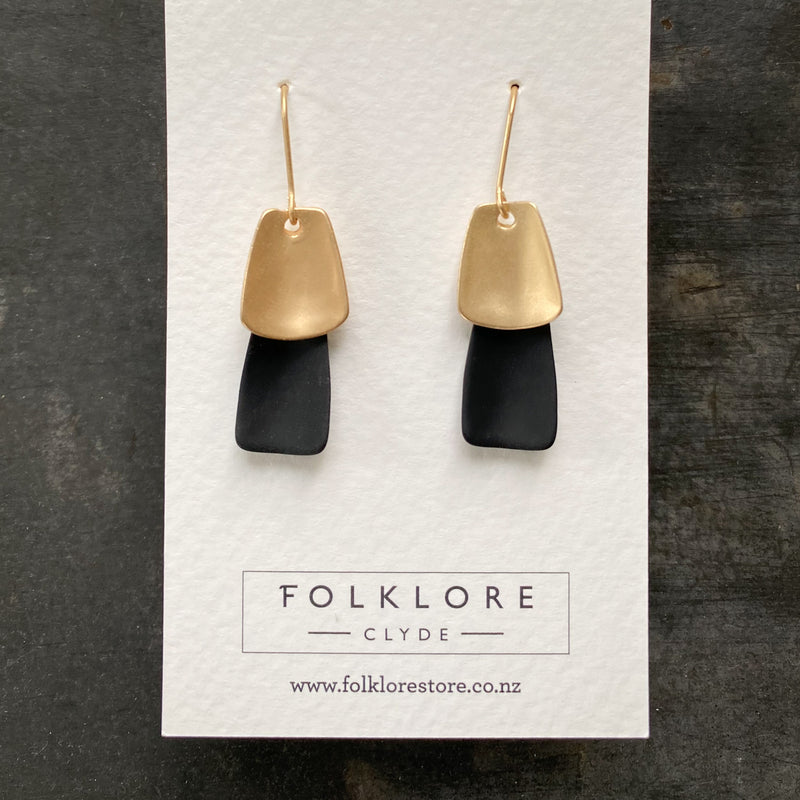 Folklore Earrings - Gold / Colour Drop