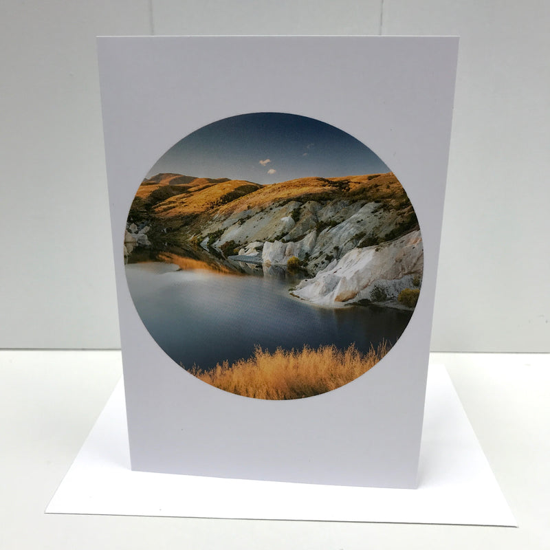 Blue Lake St Bathans - Landscape Greeting Card