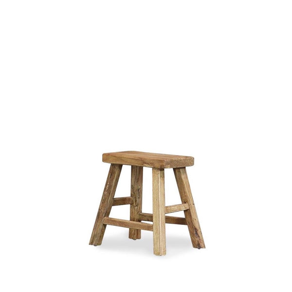 Reclaimed Elm Peasant Stool - Natural