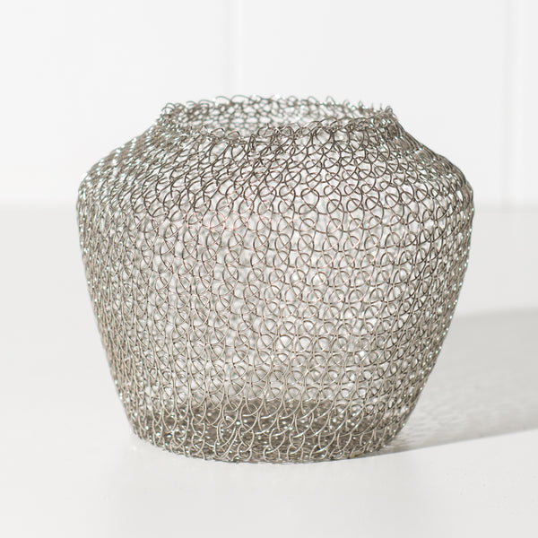 Hand Woven Wire Vessel