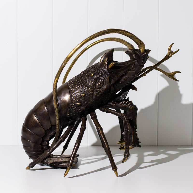 Bronze Crayfish Sculpture