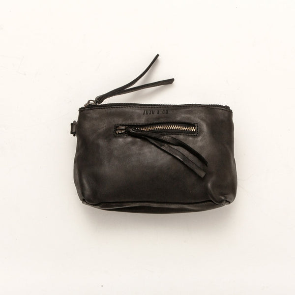 Juju & Co. Essential Leather Pouch - Black