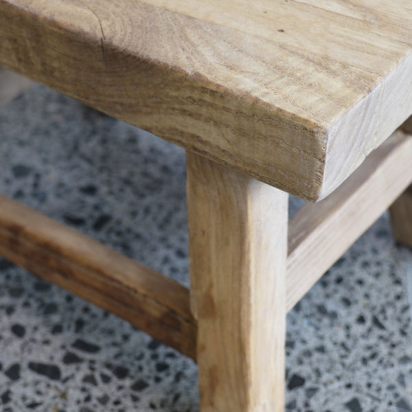 Reclaimed Elm Peasant Foot / Child's Stool