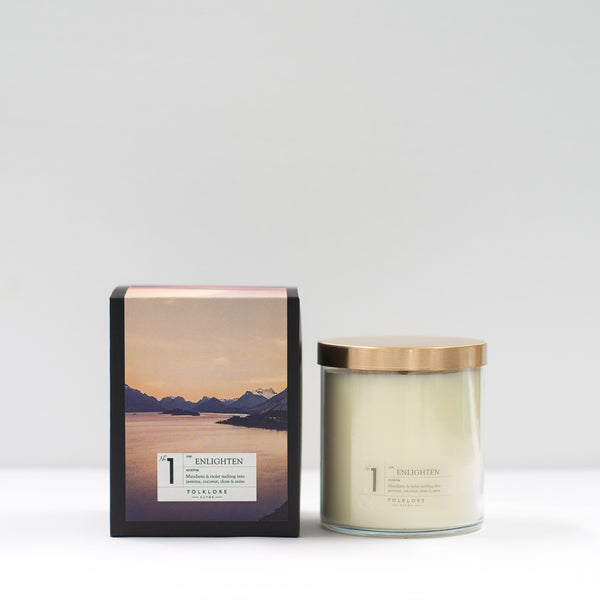 01 Enlighten Candle: 22oz Jar