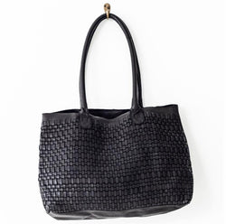 Juju & Co. Woven Leather Tote bag - 2 colours