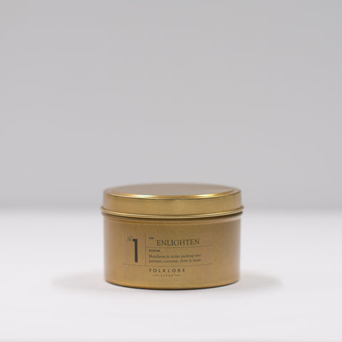 01 Enlighten Candle: 8oz Travel Tin