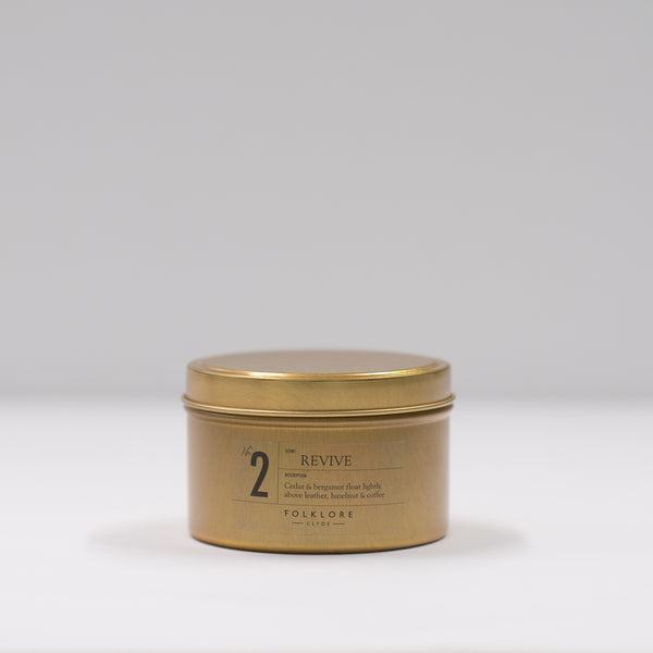 02 Revive Candle: 8oz Travel Tin