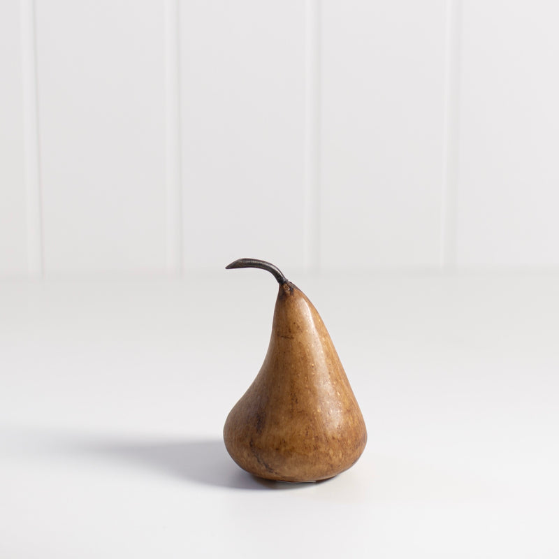 Marble Pear Ornament