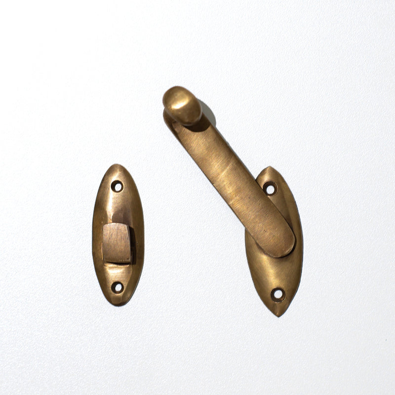 Brass Cabinet Latch - Simple