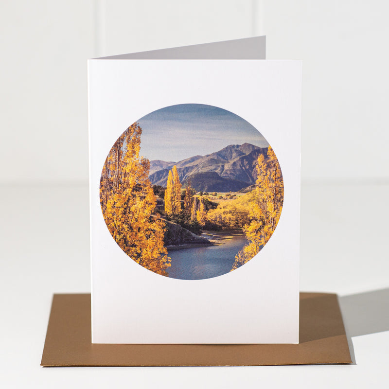 Autumn, Lake Wanaka - Landscape Greeting Card