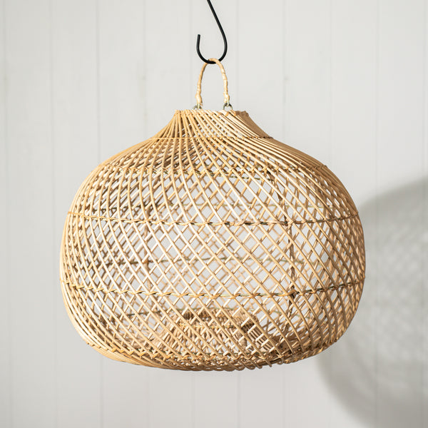 Rattan Pear Light Shade - Natural