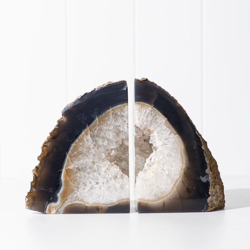 Pair of Natural Agate Bookends (A)