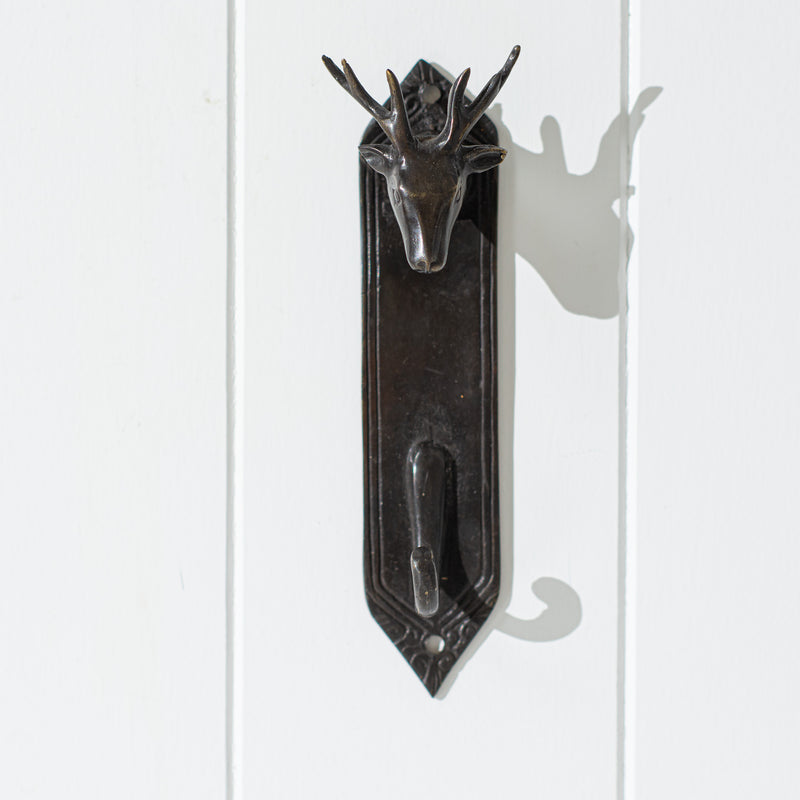 Bronze Stag Hook with backplate