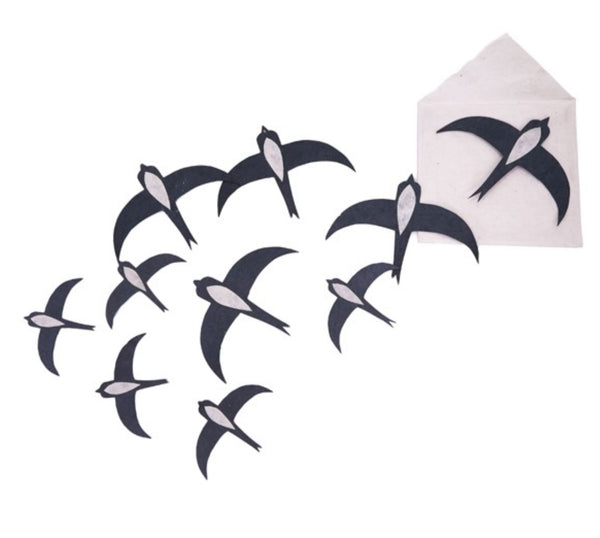 Muskhane Paper Swallows Wall Set/10