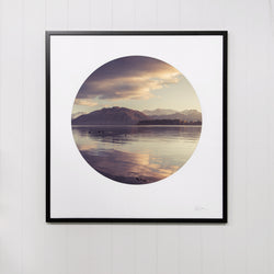 Framed Circle Print - Wanaka Dawn