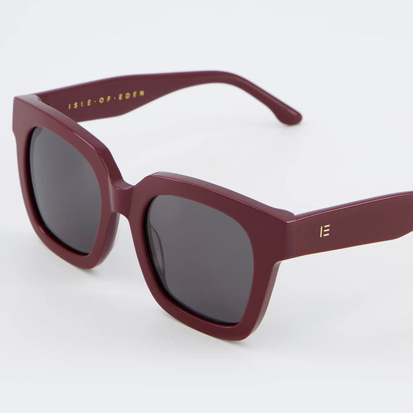 Isle of Eden Sunglasses - Maleika Dark Red