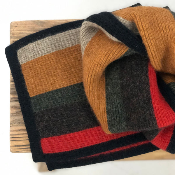 Possum Merino Tempo Striped Scarf