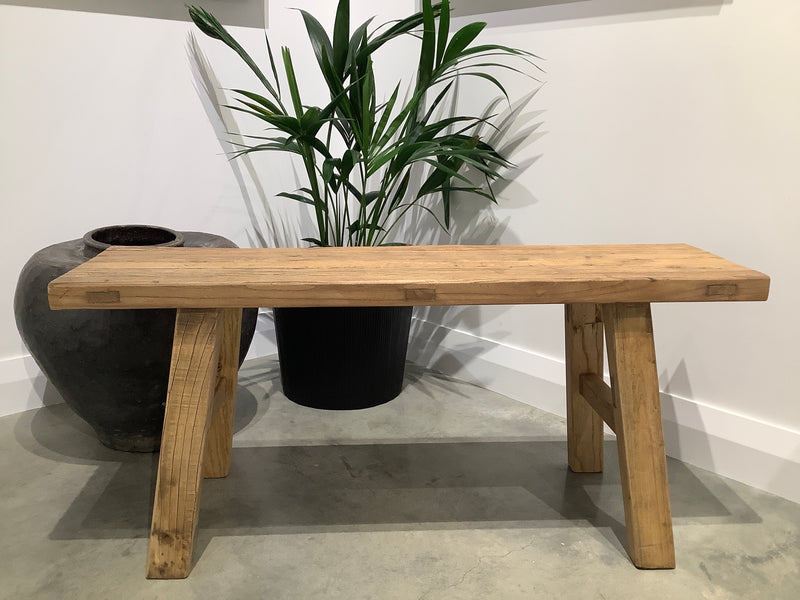 Reclaimed Elm Peasant Bench 110cm