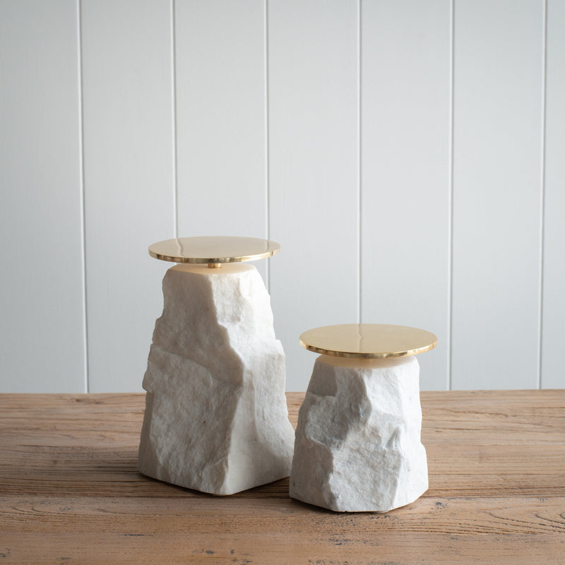 Natural Stone Candle-Stand - Tall
