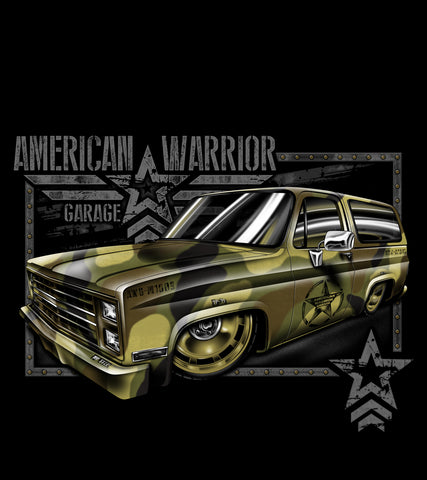 American Warrior Garage T-shirt