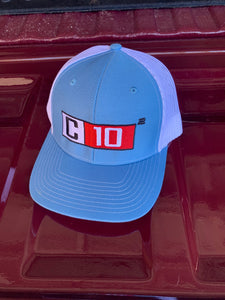 C10 Squared Big Exponent snap back hat light blue