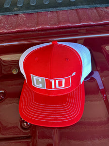 C10 Squared big exponent snapback hat Red
