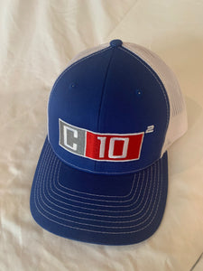 C10 Squared big exponent hat in Royal Blue