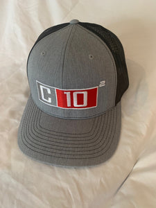 C10 Squared big exponent hat in heather grey and black