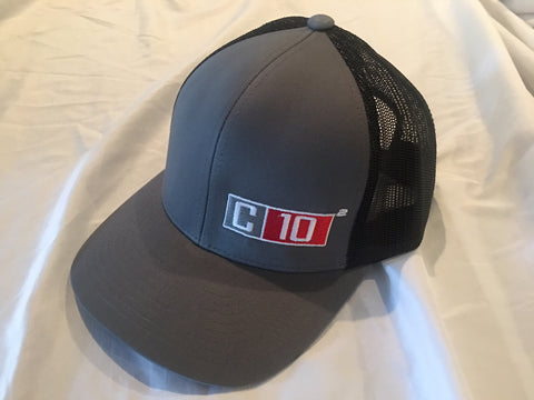 C10 Squared Snapback hat grey/black exponent