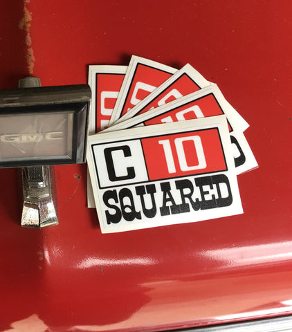 C10 Squared Decal