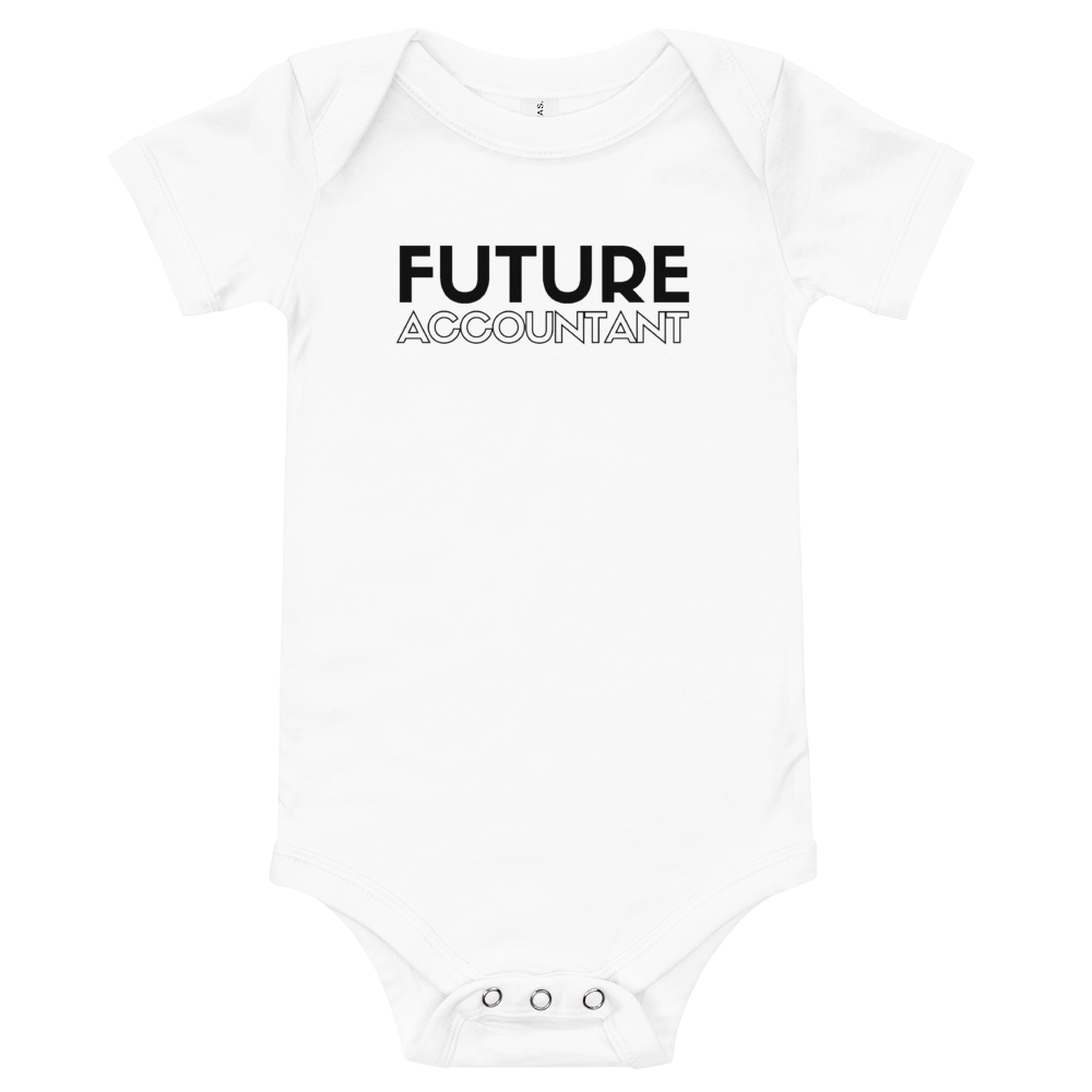 "'Future Accountant"" onesie"