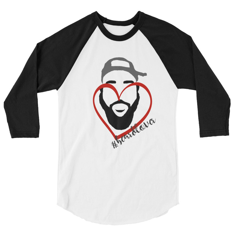 """#Beardlover"" 3/4 sleeve raglan shirt"