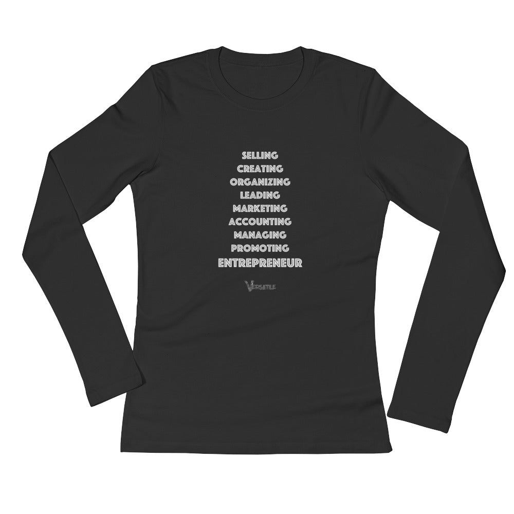 "Women's L/S ""Entrepreneur"" T-Shirt (white)"