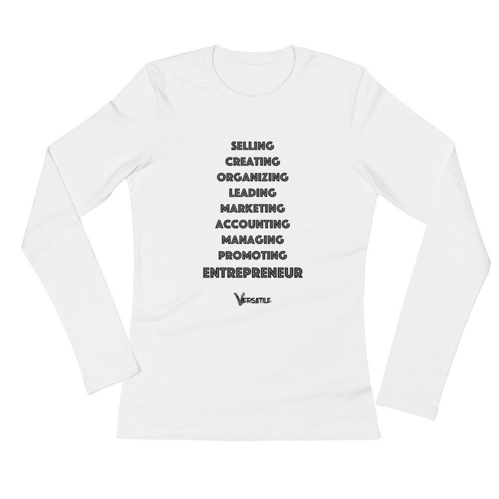 "Women's L/S ""Entrepreneur"" T-Shirt"