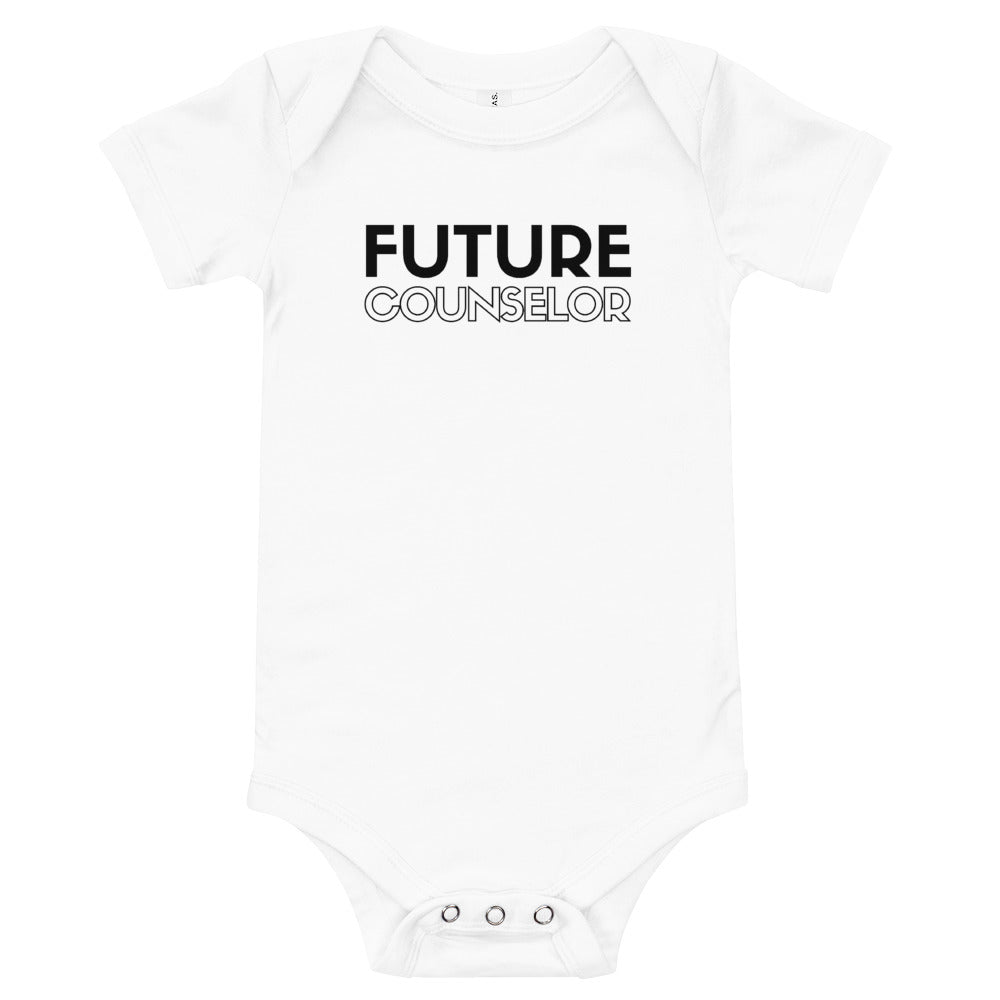 """Future Counselor"" onesie"