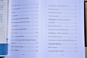 Table of contents of the book Stories of the Prophets for the Modern Age - Volume 1: The Resolute Messengers